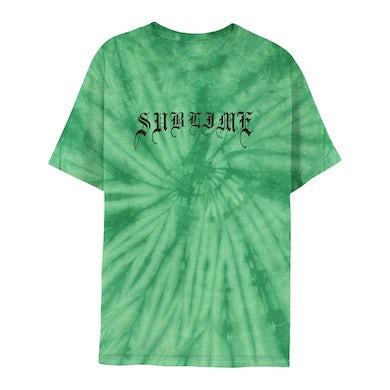 Sublime Mind-Blown Sun Green Tie-Dye Tee