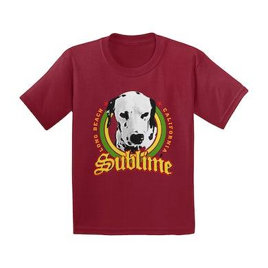 Sublime Lou Dog Burgundy Tee