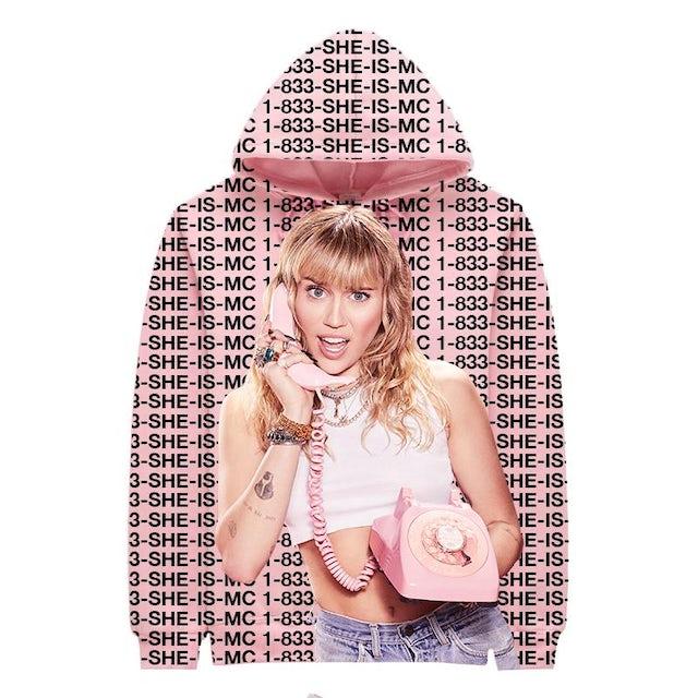Miley Cyrus 1-833 Miley Pink Photo Hoodie & Digital Download