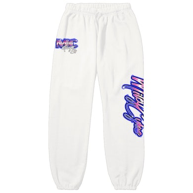 Miley Cyrus Midnight Sky Airbrush White Sweatpants
