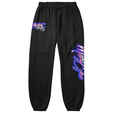 Miley Cyrus Midnight Sky Airbrush Black sweatpants