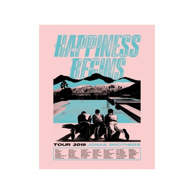 Jonas Brothers HILLS TOUR POSTER - NUMBERED