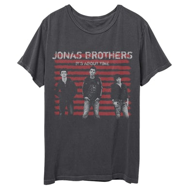 Jonas Brothers IT'S ABOUT TIME ALBUM THROWBACK TEE