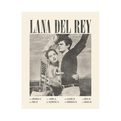 Lana Del Rey 2019 UK Tour Poster