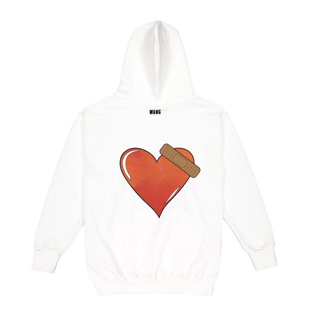 Jackson Wang BULLET TO THE HEART White Hoodie