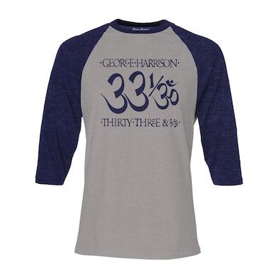 George Harrison 33 1/3 Navy/Heather Grey Raglan