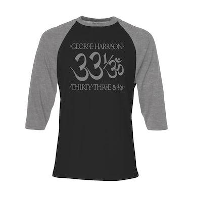 George Harrison 33 1/3 Black/Heather Charcoal Raglan