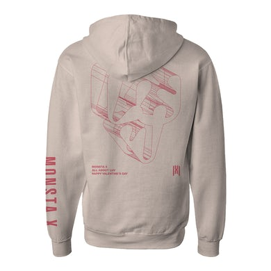 Monsta X Dimension Pullover Hoodie Natural