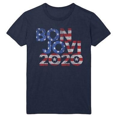 Bon Jovi 2020 Stars & Stripes Navy Tee