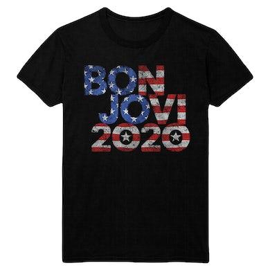 Bon Jovi 2020 Stars & Stripes Black Tee