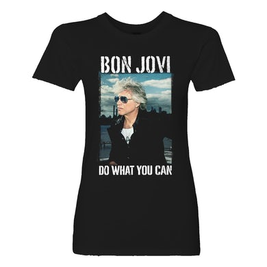 Bon Jovi Do What You Can Portrait Women's Black Tee