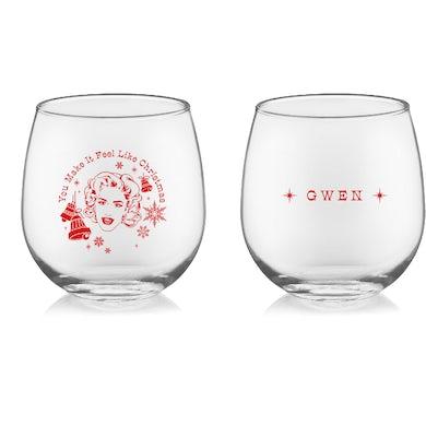 You Make It Feel Like Christmas Wine Glass Set