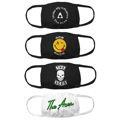 The Aces 4-Mask Bundle - Ace Face, Under My Influence, Slime and Skull designs