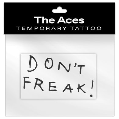 The Aces Don't Freak Temporary Tattoo