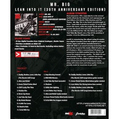 Mr Big Lean Into It (30 Th Anniversary Edition) CD