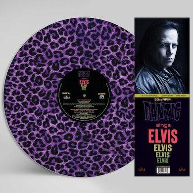 Sings Elvis   A Gorgeous Purple Leopard Vinyl Record