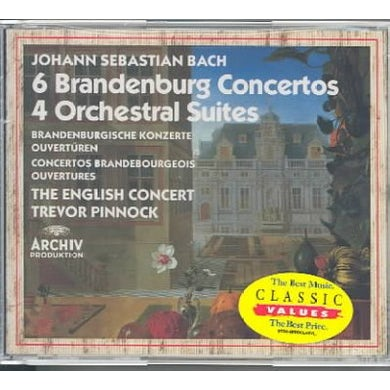 English Concert 6 Brandenburg Concerti; 4 Orchestral Suites (3 CD) CD
