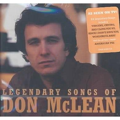 Legendary Songs Of Don Mclean CD