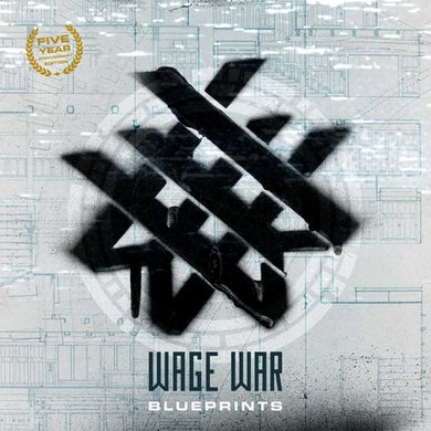 Wage War Blueprints  Anniversary Edition  Seafoam Marble Vinyl Record