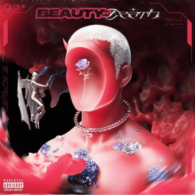 Chase Atlantic BEAUTY IN DEATH (Red & Black LP) Vinyl Record