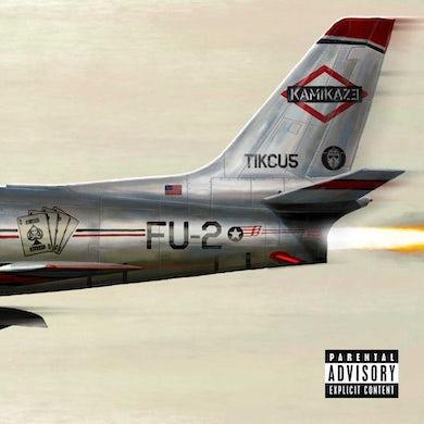 Eminem KAMIKAZE (OPAQUE OLIVE GREEN VINYL/GATEFOLD JACKET) Vinyl Record