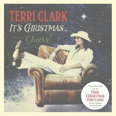 Terri Clark It's Christmas...Cheers! (LP) (Holly Green) Vinyl Record