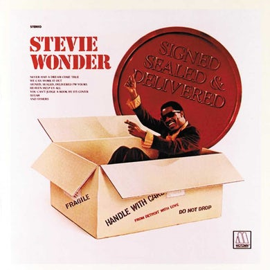 Stevie Wonder  Signed, Sealed And Delivered Vinyl Record