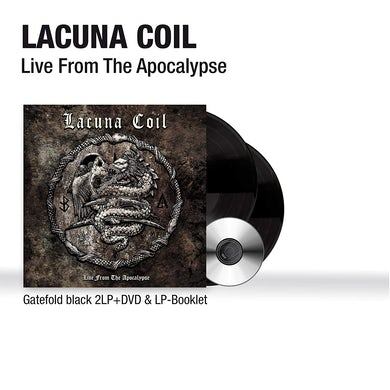 Lacuna Coil LIVE FROM THE APOCALYPSE (2LP/DVD/BOOKLET) Vinyl Record