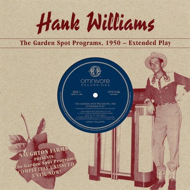 Hank Williams Garden Spot Programs, 1950 Vinyl Record