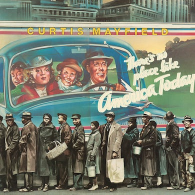 Curtis Mayfield THERE'S NO PLACE LIKE AMERICA (BLUE VINYL) Vinyl Record