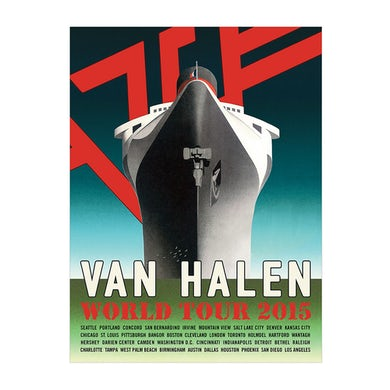 Van Halen World Tour Ship Poster