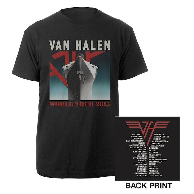 Van Halen World Tour Ship Tee