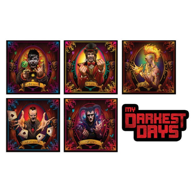 My Darkest Days Portrait Sticker Pack
