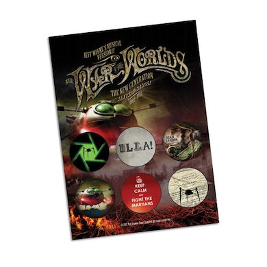 The War Of The Worlds TWOTW Set of Six Badges - Volume 1