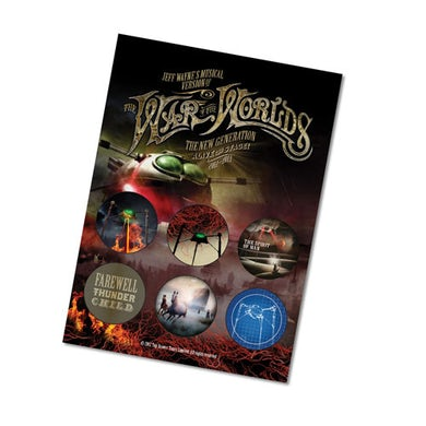 The War Of The Worlds TWOTW Set of Six Badges - Volume 2