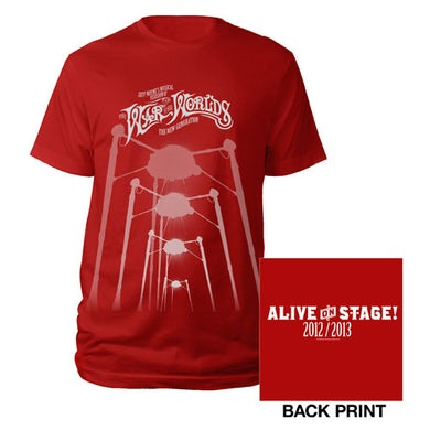 The War Of The Worlds TWOTW Red Fighting Machine T-shirt