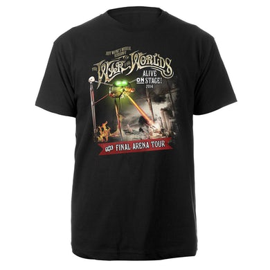 The War Of The Worlds TWOTW Tour/ Itin 2014 Black T-shirt
