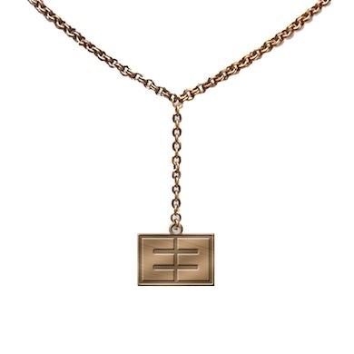 Emblem3 Gold Tone Block Logo Necklace
