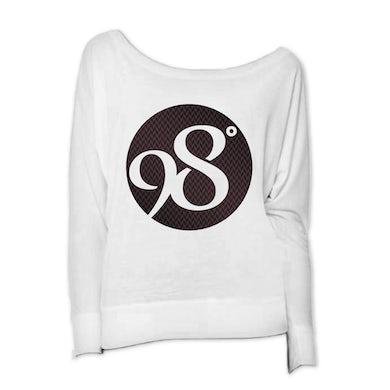 98 Degrees Weave Logo Ladies Long Sleeve Scoop Neck