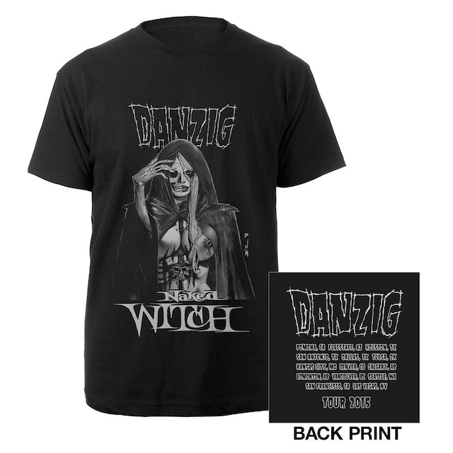 Danzig Naked Witch 2015 Itinerary T-shirt