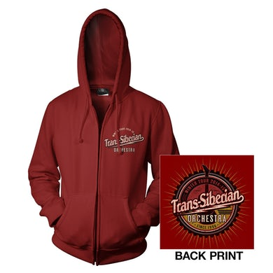 Trans-Siberian Orchestra Cardinal Red TSO Zip-Up Hoodie