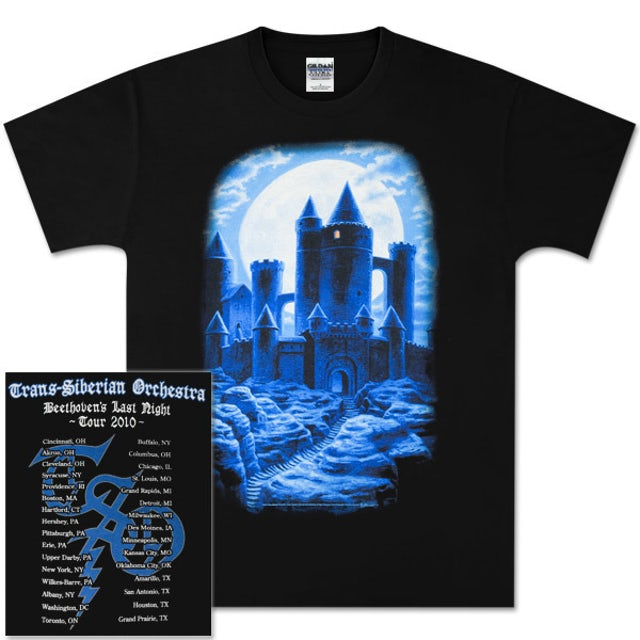 Trans-Siberian Orchestra Castle All-Over Tour T-Shirt