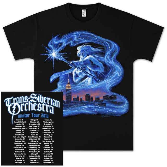 Trans-Siberian Orchestra Skyline Wizardry Tour T-Shirt