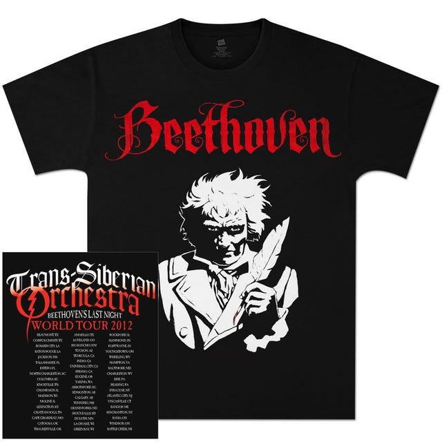 Trans-Siberian Orchestra Calligraphy 2012 Tour T-Shirt
