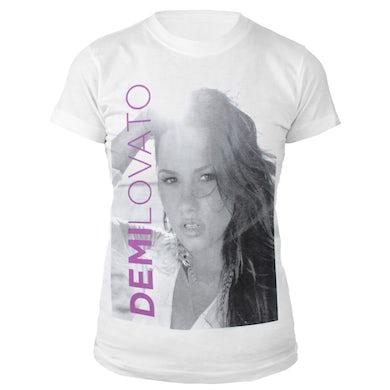 Demi Lovato Black & White Portrait Babydoll Shirt