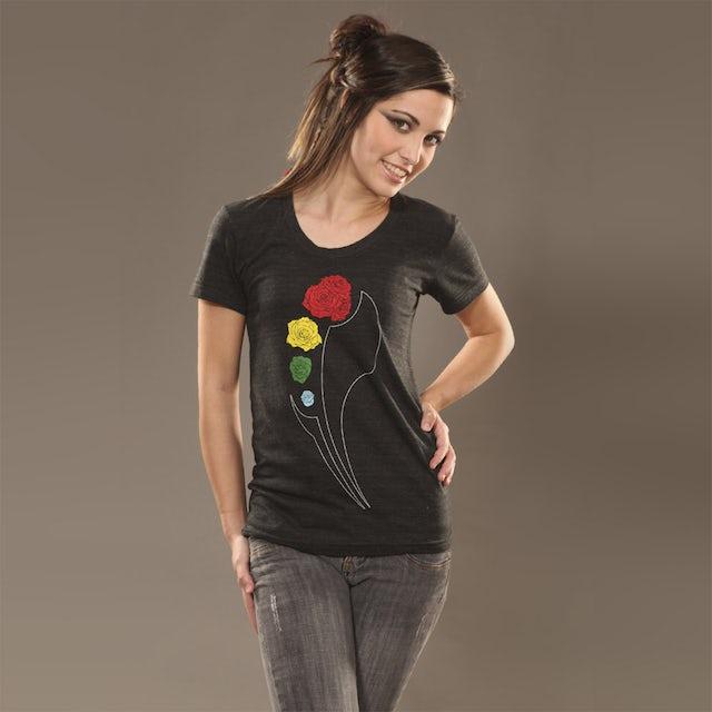Insomniac Rose Logo Jr Tee Heather Black