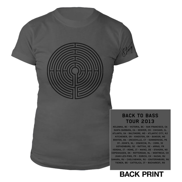 Sting Women's Grey Labyrinth Tour Tee
