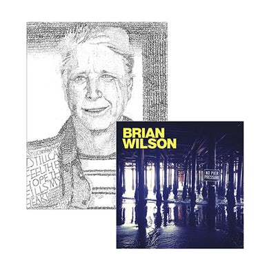 Brian Wilson Hand Signed!  No Pier Pressure 2 LP Vinyl, Lithograph & Digital Album