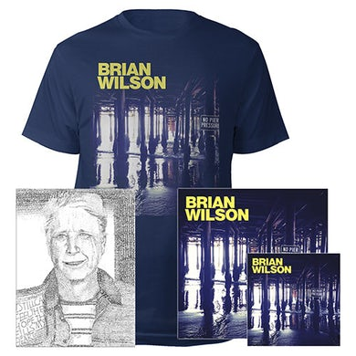 Brian Wilson Hand Signed!  No Pier Pressure Deluxe CD, 2 LP Vinyl, Lithograph, Tee & Digital Album