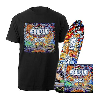 Sublime With Rome Sirens CD, Hand Signed Longboard Deck & Tee - Limited to just 200